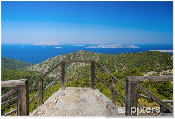 Póster La costa del mar Egeo - Montañas