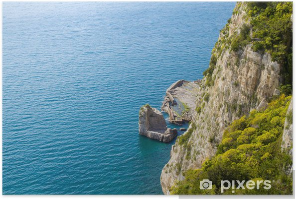 Poster La côte amalfitaine. - Vacances