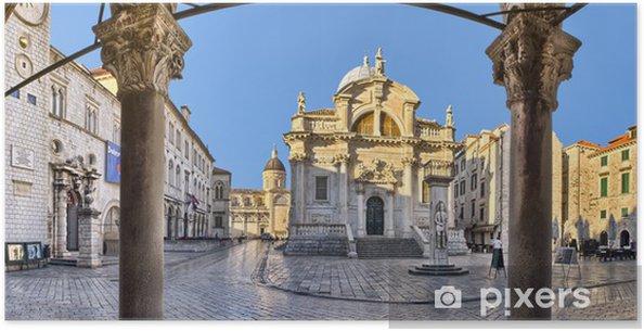 Póster La Iglesia de San Blas, en Dubrovnik, Croacia - Europa