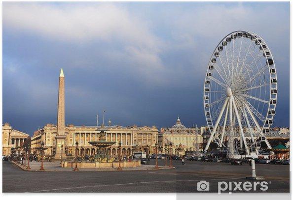 Poster La place de la Concorde - Villes européennes