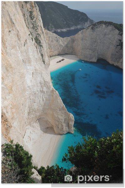 Poster La plage du naufrage, île de Zakynthos, en Grèce - Europe
