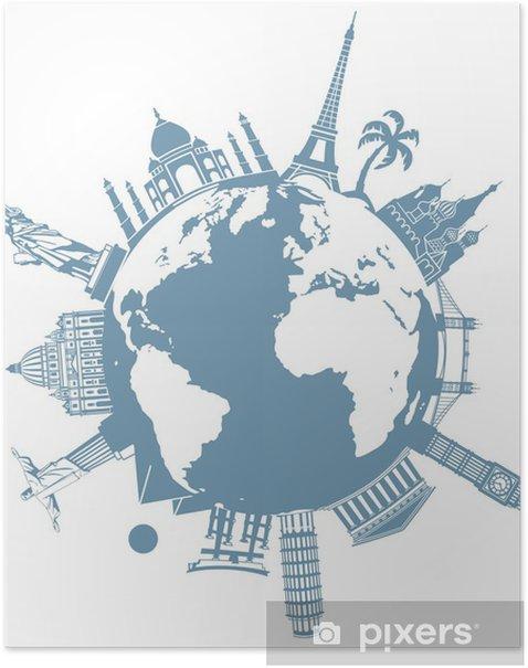 Poster La Planète des voyages - Vacances
