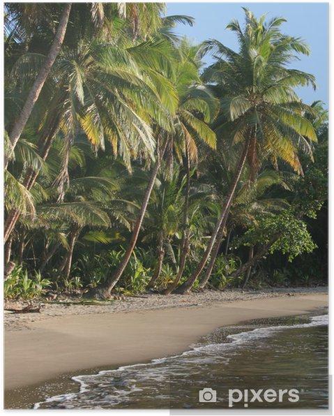 Póster La playa más hermosa de Dominica, playa Batibou - América