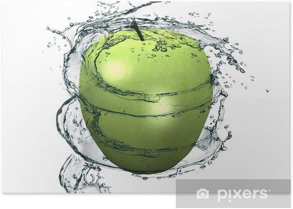la pomme et l'eau Poster - Fruit