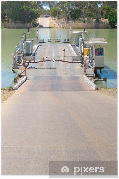 Poster La rivière murray ferry à morgan - Bateaux
