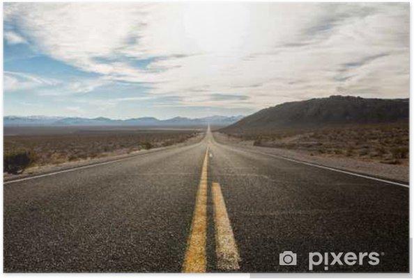 Poster La route de Death Valley National Park, États-Unis. - Ressources graphiques