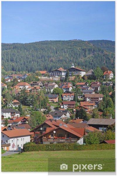 Poster La station balnéaire de maïs moulu dans la forêt bavaroise - Europe