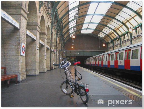 Poster La station de métro de Londres à vélo pliable - Thèmes