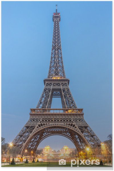 Póster La torre Eiffel, la salida del sol - Vacaciones