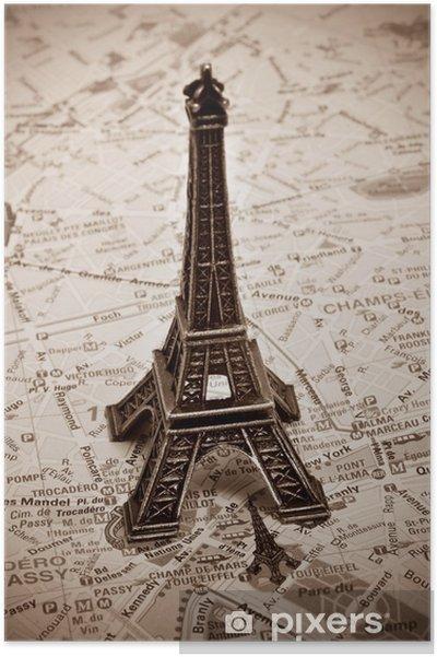 Poster La Tour Eiffel à Paris, France. - Thèmes