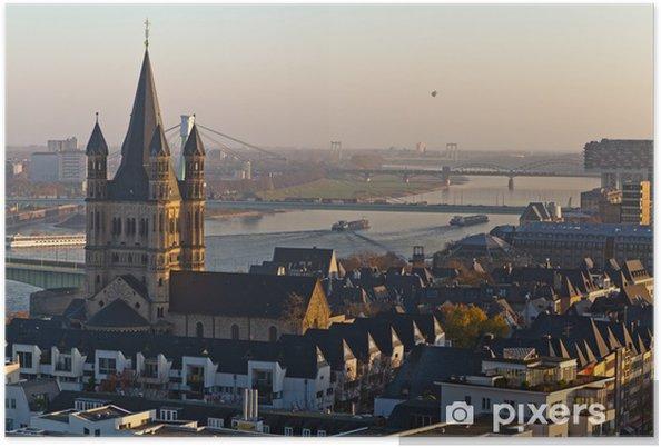 Poster La vieille ville de Saint-Martin brut Cologne - Europe