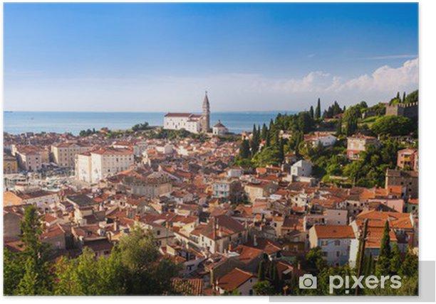Poster La vieille ville pittoresque de Piran - Slovénie. - Europe
