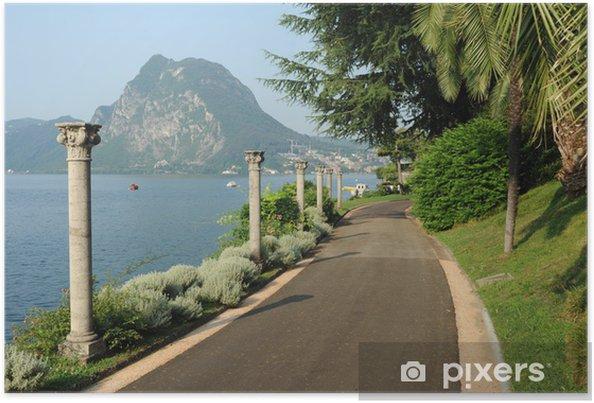 Póster La villa parque Heleneum en el Lago de Lugano, en Suiza - Europa