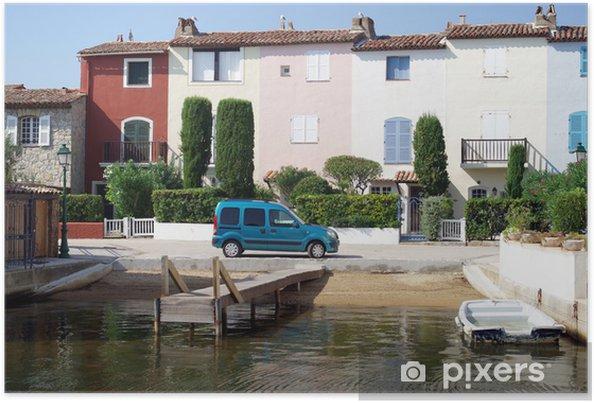 Poster La ville de la lagune de Port Grimaud en France - Europe