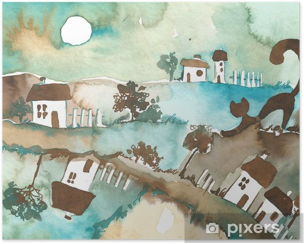 Poster La ville la nuit - Agriculture