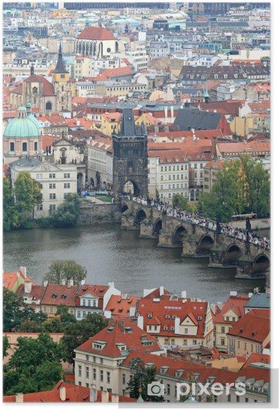 Poster La vue aérienne de Prague - Europe