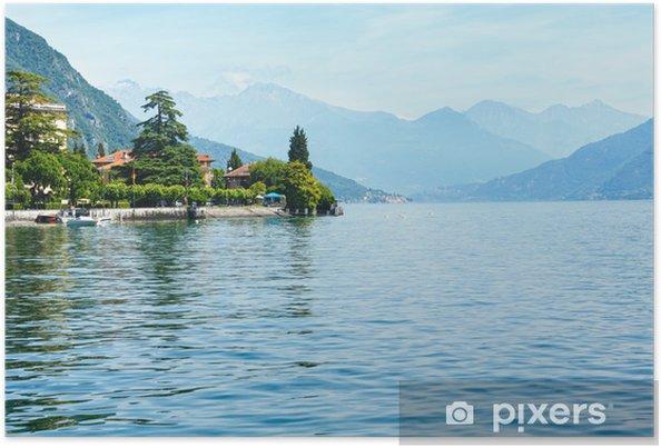 Poster Lac de Côme (Italie) Vue de navire - Saisons