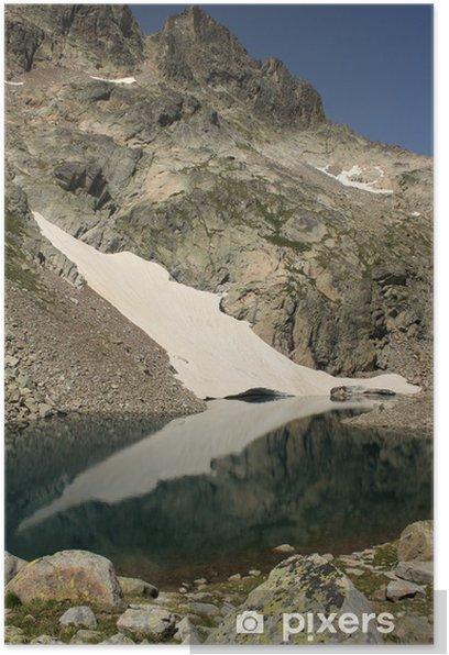 Póster Lago glacial en el Posets-Maladeta parque natural - Agua