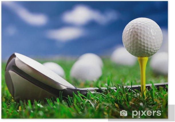 Poster Laissez-le jouer au golf! - Thèmes