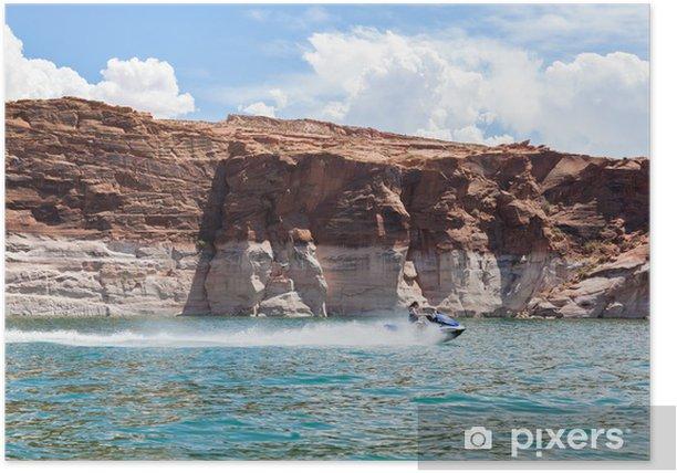 Lake Powell, in Glen Canyon in Utah and Arizona Poster - America
