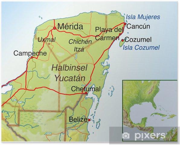 Mexiko Physische Karte Sehr Detaillierte Physikalische Karte Von