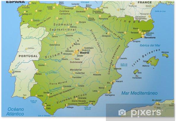 Karten Von Spanien Karten Von Spanien Zum Herunterladen Und Drucken