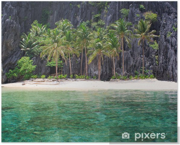Landscape Of El Nido Palawan Island Philippines Poster