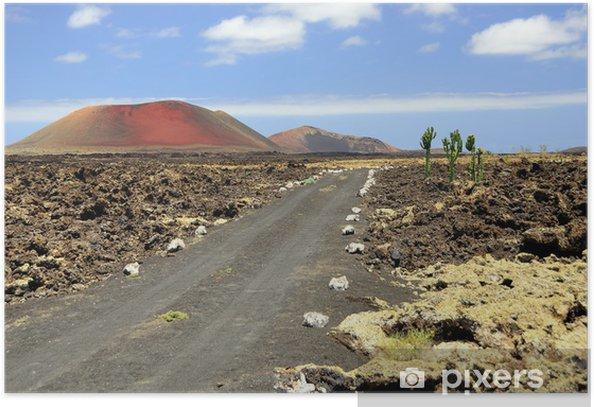 Landscape with mountain Colorado, Lanzarote Poster - Africa