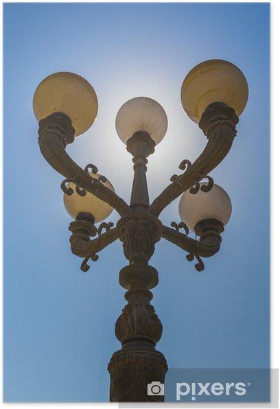 Poster Lanternes de la rue arabe dans la ville de Dubaï - Sur la route