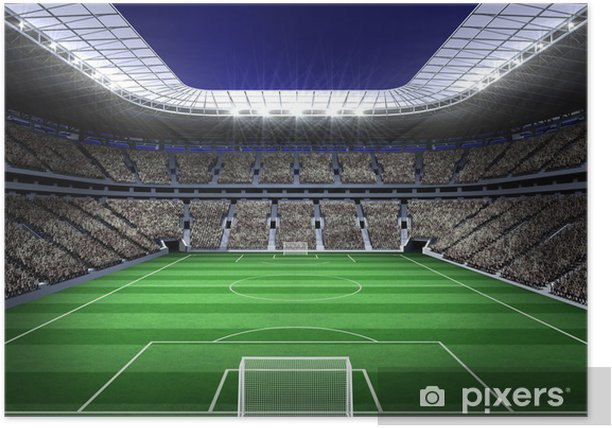 Large football stadium with lights Poster - iStaging