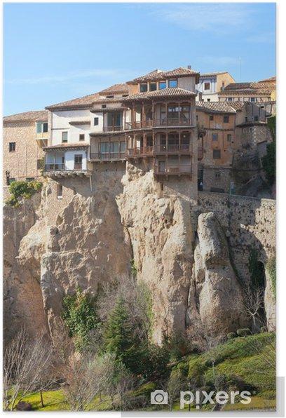 Poster Las Casas Colgadas à Cuenca, Espagne - Europe