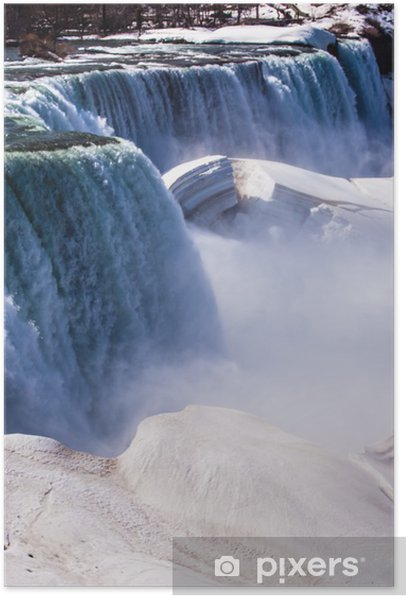 Póster Las Cataratas del Niágara en invierno - América