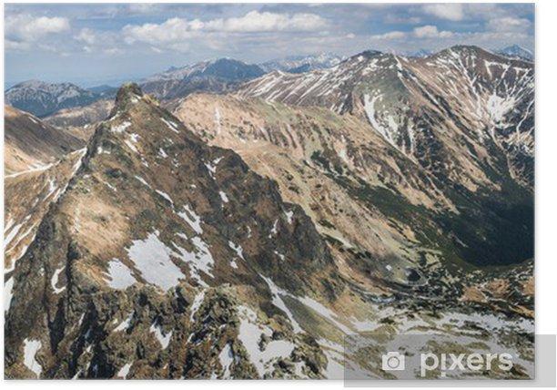 Póster Las montañas del resorte panorama - Temas