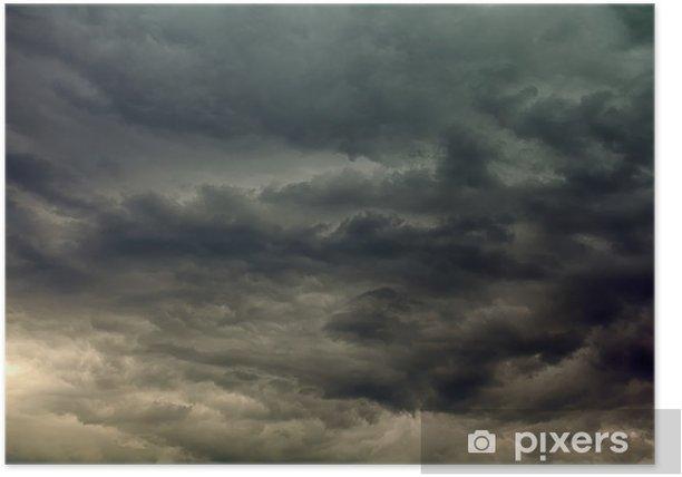 Póster Las nubes tempestuosas. - Cielo