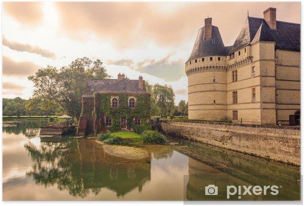 Poster Le château de l'Islette au coucher du soleil, France - Monuments