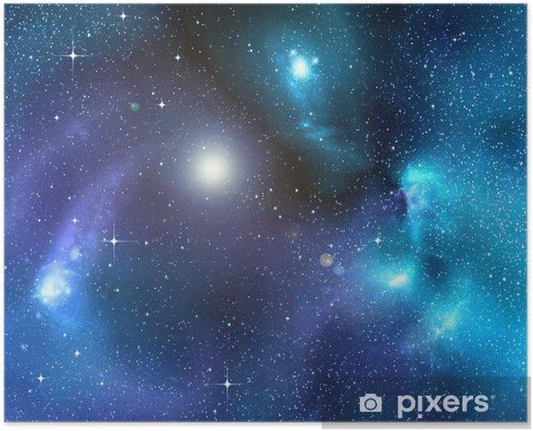 Poster Le fond étoilé de l'espace profond - Étoiles