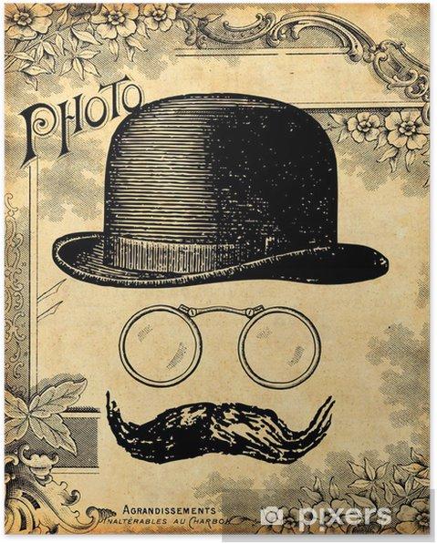 Poster Le Gentleman - Moustache