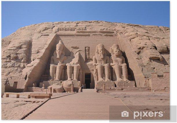 Poster Le Grand Temple d'Abou Simbel, en Egypte - Afrique
