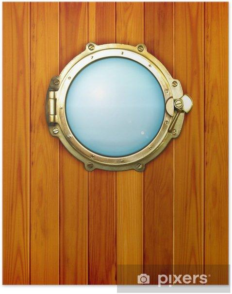 Poster Le hublot de navire - Bateaux