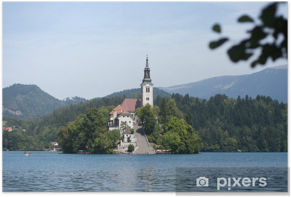 Poster Le lac de Bled en Slovénie - Europe
