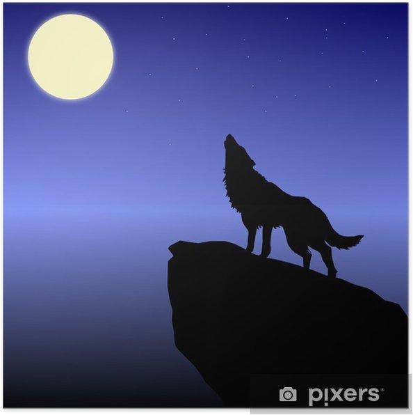 Poster Le loup hurle à la lune - Thèmes
