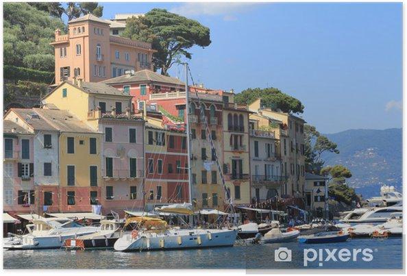 Poster Le port panoramique Portofino - Europe