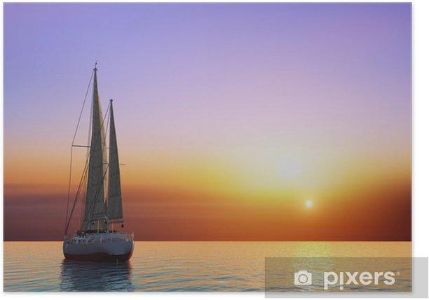 Poster Le yacht - Océanie