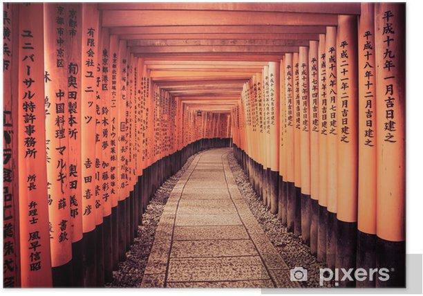 Poster Leader ligne aux portes de Kyoto - Asie