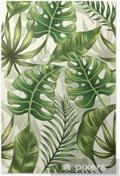 Leaves pattern Poster - Plants and Flowers