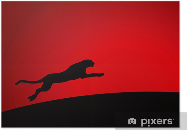 Leopard running Poster - Backgrounds