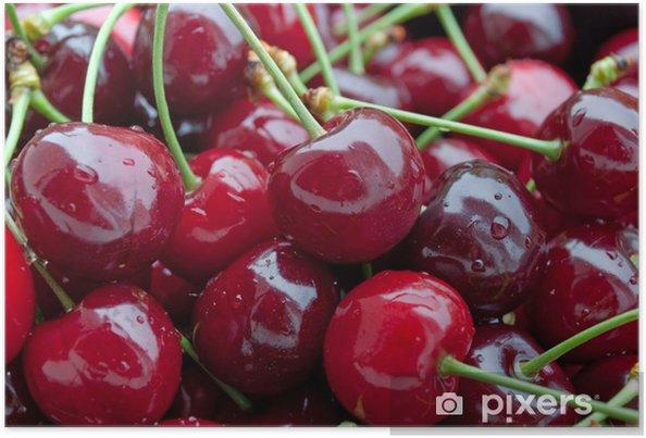 Poster Les cerises douces - Fruits