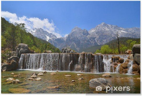Poster Les chutes de la montagne alpine - Thèmes