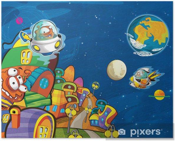 Poster Les étrangers - UFO - pour les enfants -