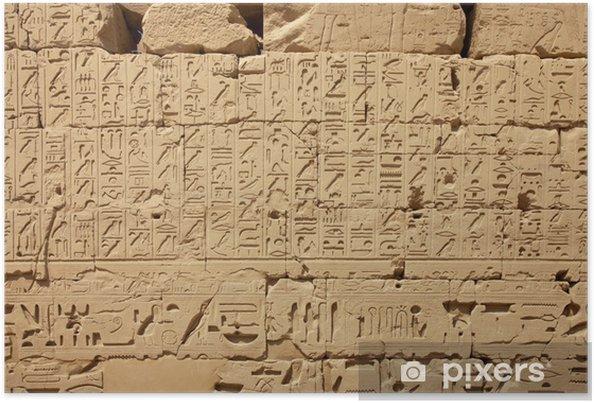 Poster Les hiéroglyphes égyptiens - Monuments
